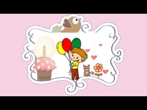 С Днем Рождения, доченька. Рисованный мультик.