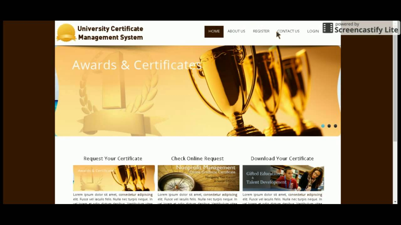 Php And Mysql Project On University Certificate Management System