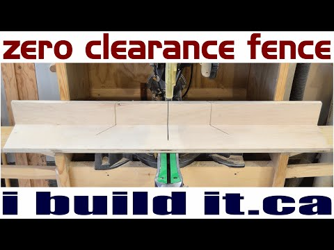 Making A Zero Clearance Fence