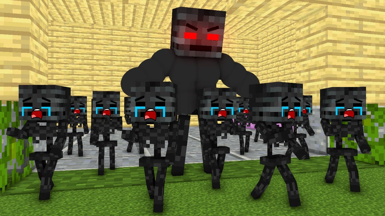 Monster School : Poor Wither Skeleton Babies Sad Story - minecraft animation