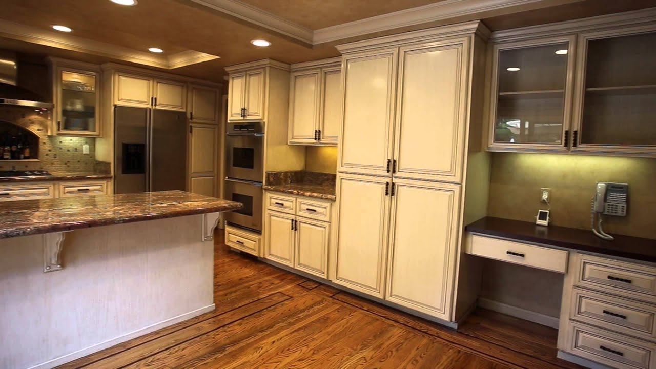 Before and After Refacing of a Kitchen