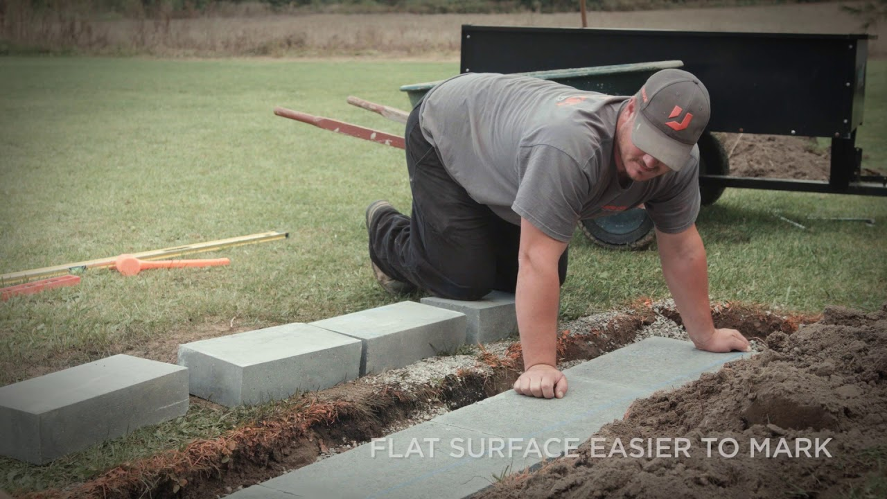 Retaining Wall Base and Block Leveling Techniques Segment 03
