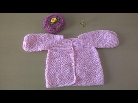 Como hacer una chaqueta de beb en crochet o ganchillo - Hacer una manta de ganchillo ...