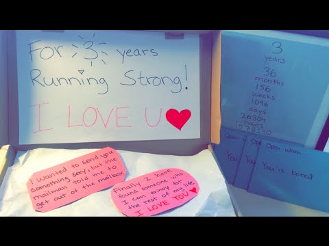 DIY: gift to your lover | Running strong shoebox and special anniversary art gift!!