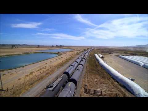 Rail cars containing liquefied gas on SMART tracks south of Sonoma