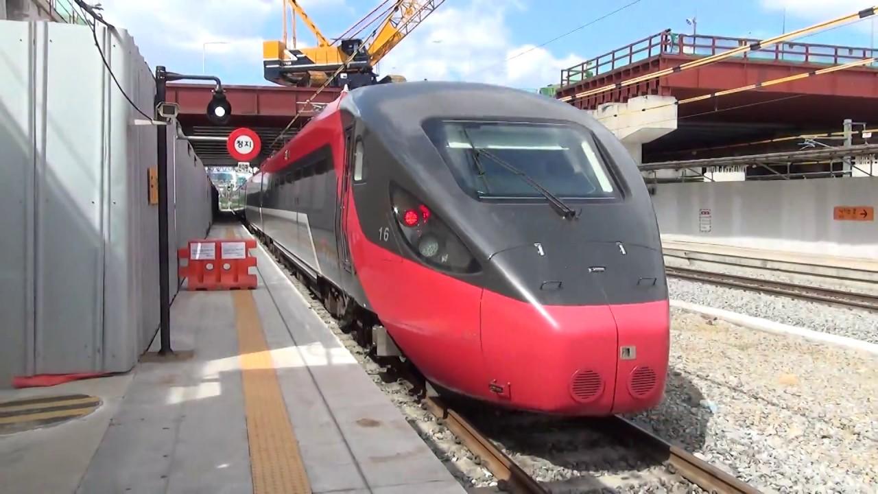 韓国鉄道KORAIL 新型特急ITXに乗る その2 車窓の風景 KTXと並走 ...