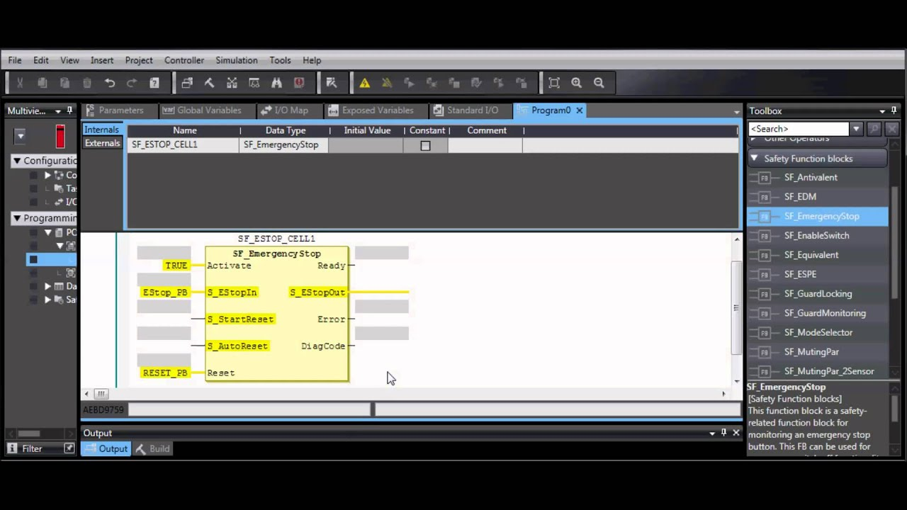 Create A Basic Nx Safety Program In Sysmac Studio Youtube