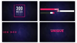 KOSTENLOSE DOWNLOAD Premiere Pro & AE - Vorlagen- Mega-Titel - 250 Animierte Titel