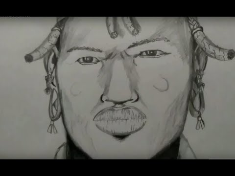 African Warrior sketch