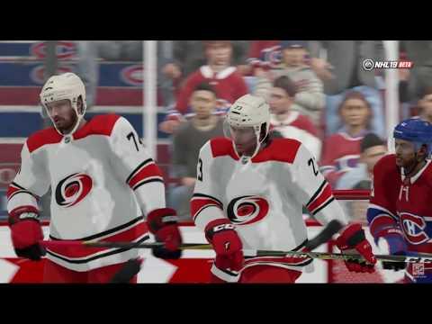 NHL 19 - Carolina Hurricanes vs Montreal Canadiens Online Gameplay PS4