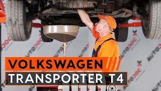 Montare Filtru ulei VW TRANSPORTER IV Bus (70XB, 70XC, 7DB, 7DW): video gratuit