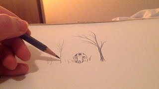 ASMR drawing random doodles with pencil sounds (white noise, no whisper)