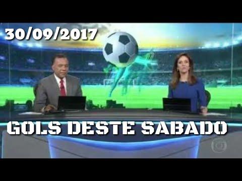 OS GOLS DESTE SÁBADO - JORNAL NACIONAL (30/09/17)