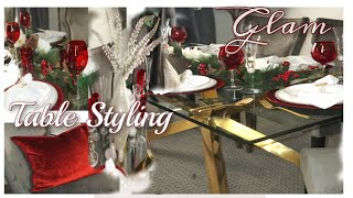 GLAM Christmas Table Styling Ideas || POP of Red