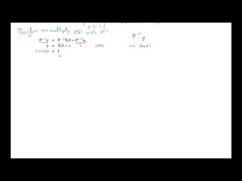 ECON20110 Generalized Least Squares