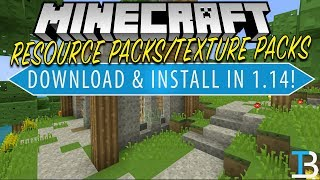 How To Download & Install Texture Packs/Resource Packs in Minecraft 1.14