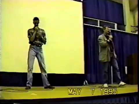 Andrew Robinson and Alexander Siddig in Atlanta May 1995