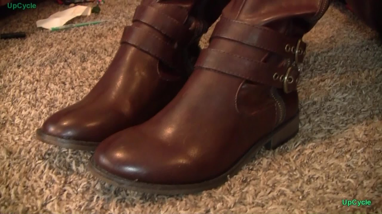 dab909e2e1eec6 Upcycle  Caroline s new boots - YouTube