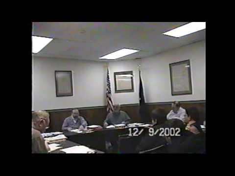 Champlain Village Board Meeting  12-9-02