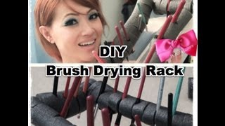 How To: Diy Make Up Brush Drying Stand/ Rack
