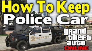 [NO WAY!] KEEP THE POLICE CAR IN YOUR GARAGE! AFTER PATCH 1.43! (XBOX 1 PS4 PC)
