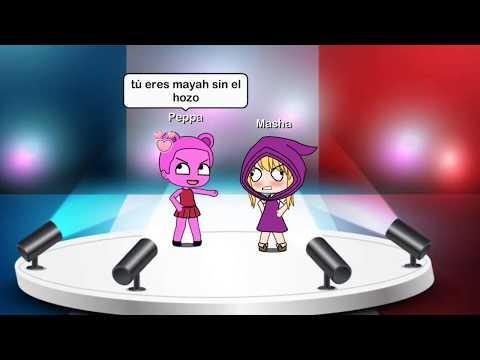 Batalla de RAP! Masha VS Peppa Pig! (Gacha Life) - Lola Aguirre :3