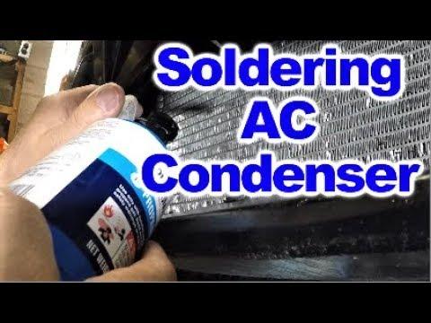 Soldering AC Condenser to repair small Pinhole Leak