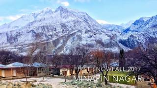 First Snowfall of 2018| Minapin, Nagar Valley | Gilgit Baltistan