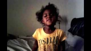 three year old girl sings your love turn my life around