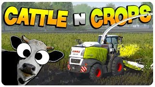 Cattle and Crops - Plow and Fertilize Fields! (giggity) | Cattle and Crops Gameplay