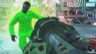 "ZOMBIE ALIEN DEFENSE 2095... ENDING ""Call of Duty Zombies"" Custom Zombies Gameplay"
