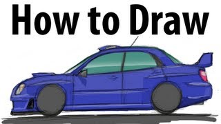 How to draw a Subaru Impreza WRC 2005 - Sketch it quick!