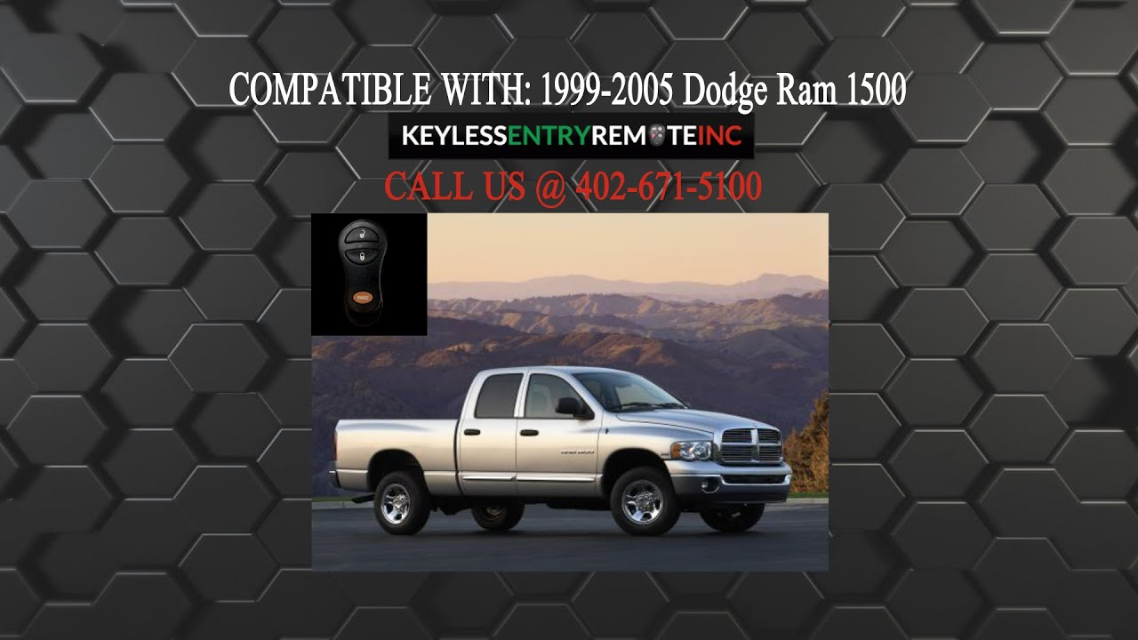 How To Replace Dodge Ram 1500 Key Fob Battery 1999 2005