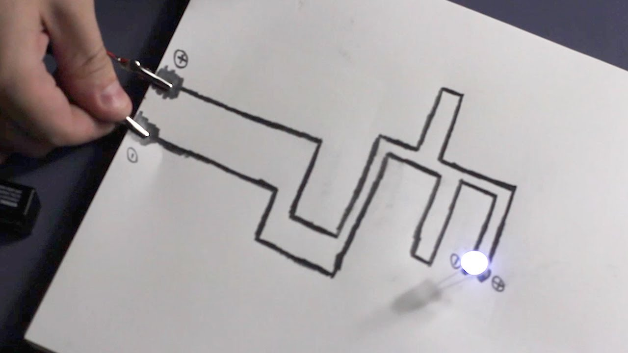 Paper Circuit Youtube Current Flows Through Them Heres An Example With Three