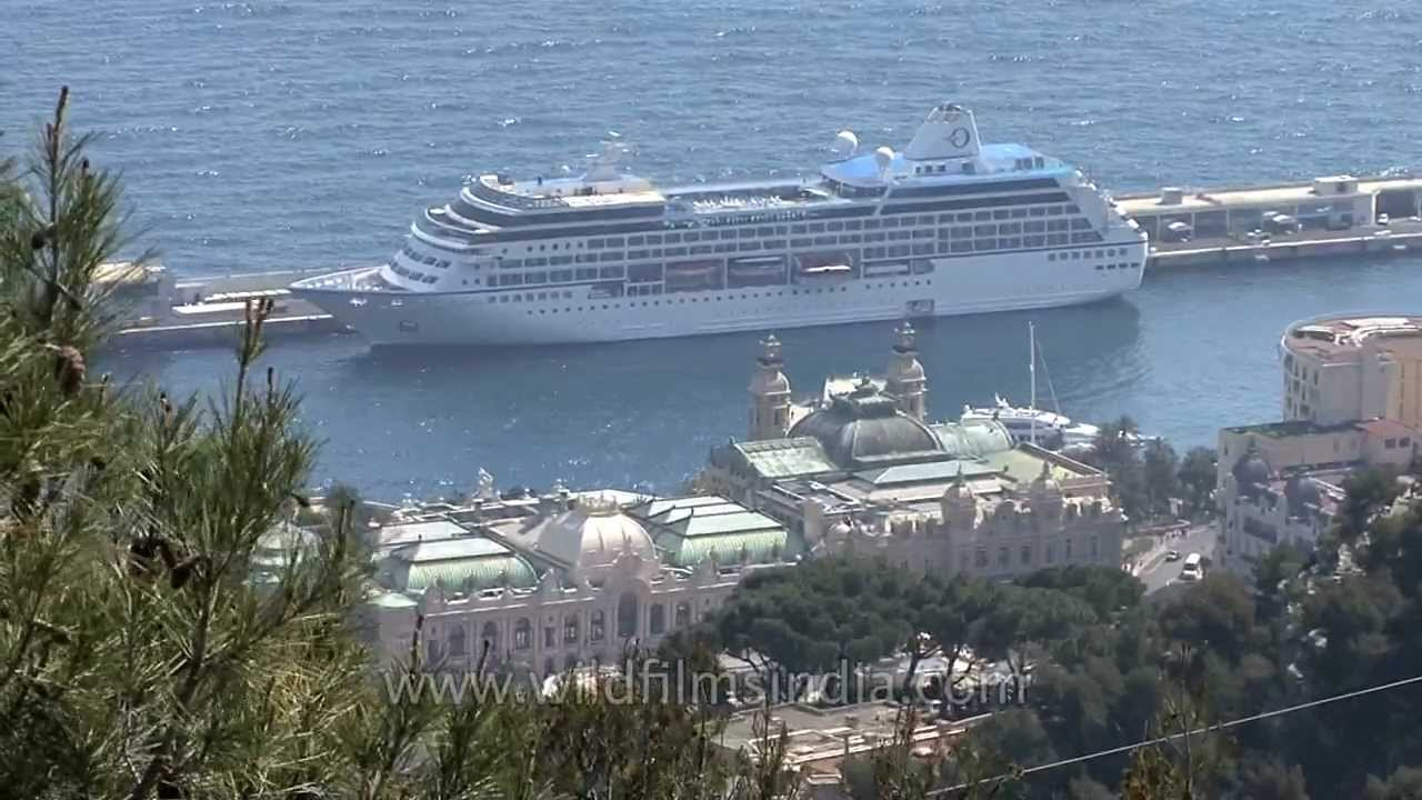 Cruise Ship Docks Into Monte Carlo Harbour YouTube - Cruise ships in monaco today