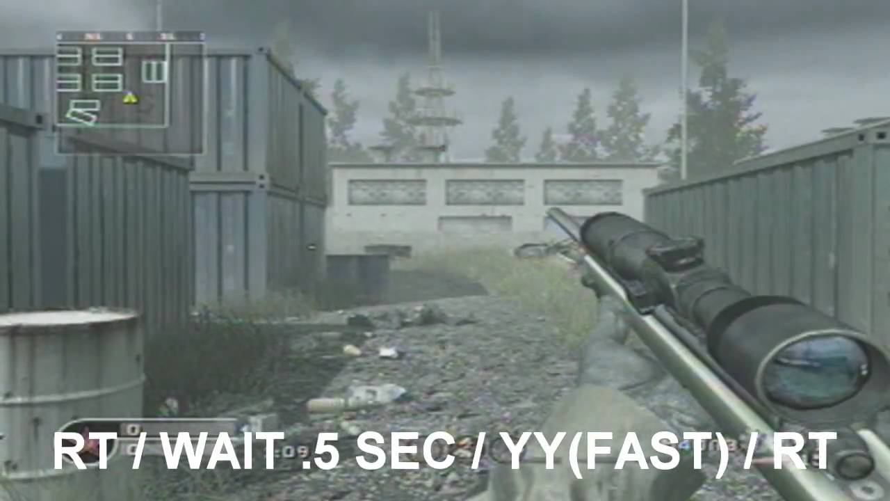 How to Shoot Faster with a Sniper (CoD4 Glitch)