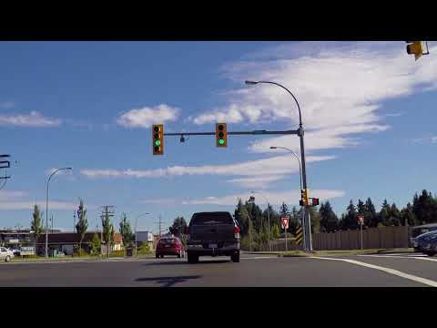Driving from COURTENAY to COMOX - Tour of Vancouver Island - British Columbia (BC) Canada