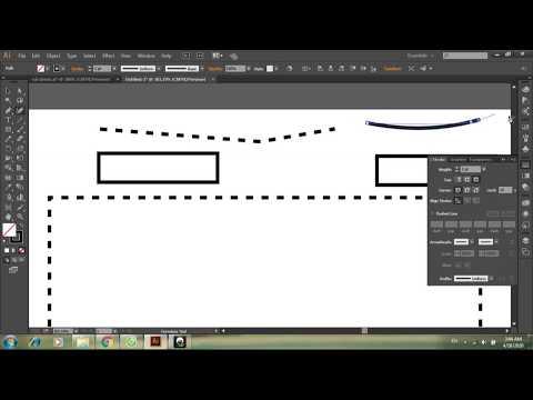 Vẽ nét đứt và nét chấm trong Illustrator/Zeichnen Sie gestrichelte und gepunktete Linien-Illustrator