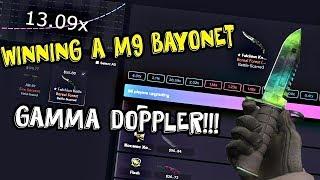 WINNING A M9 BAYONET GAMMA DOPPLER!!! - CSGOMAGIC.COM