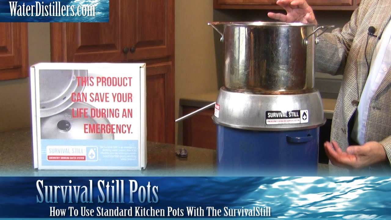 SurvivalStill Emergency Water Purifier Instructions For Using Pots