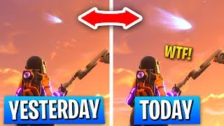 The TILTED TOWERS METEOR Is Getting BIGGER Every Day? (Fortnite Tilted Towers Destroyed Theory)
