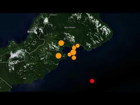 Strong 7.2M Earthquake, Swarm Strike Papua New Guinea Region