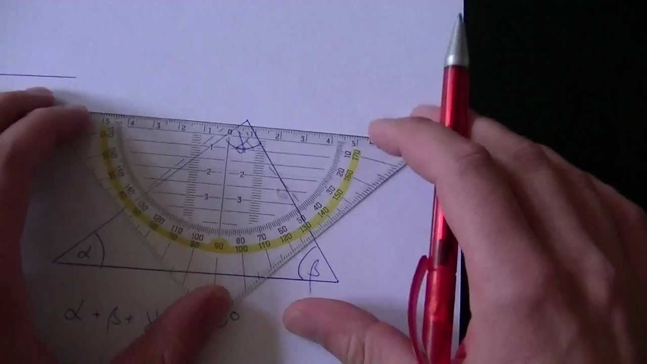 Beweis Innenwinkelsatz Dreieck - YouTube