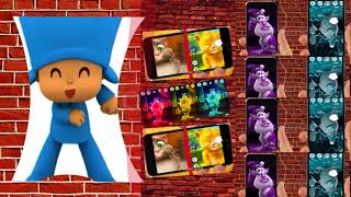Talking Pocoyo and Friends Cat Tom Iphone Boba firework Best Kids Learn Colors Funny Animations