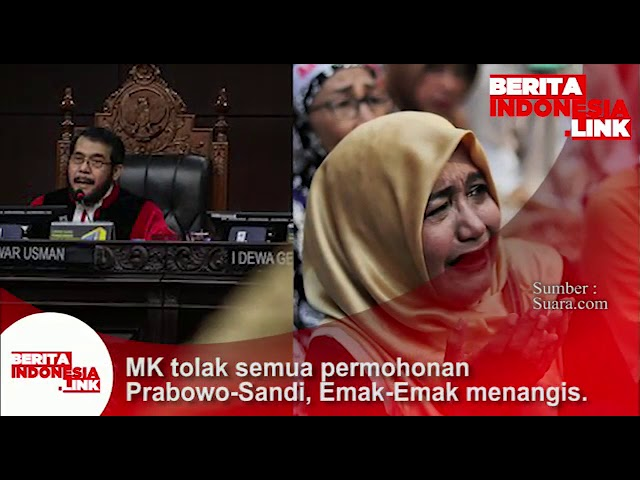 MK menolak semua permohonan Prabowo-Sandi, Emak-Emak menangis