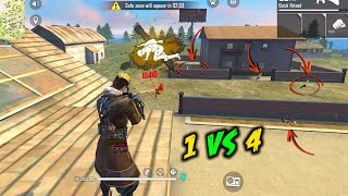 Unbeatable AWM Solo vs Squad OverPower Gameplay - Garena Free Fire