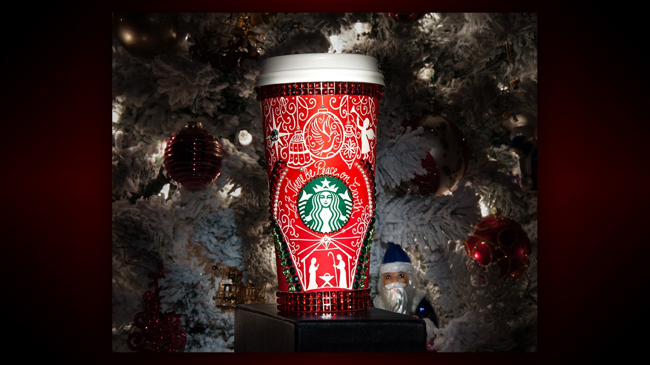 drawing on my starbucks red cup christmas edition youtube - Starbuck Christmas Cups
