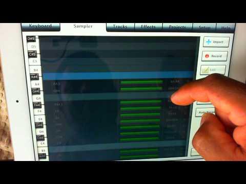 Tutorial para editar samples y multisamples en el iPad y iPhone con la App MusicStudio