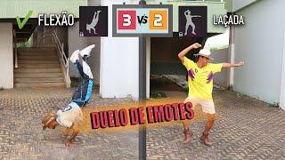 DUELO DE EMOTES NA VIDA REAL - FREE FIRE