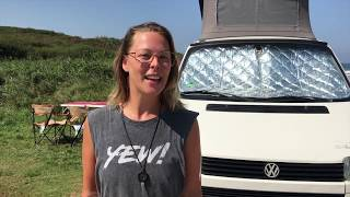 VW T4 California Roomtour (German) - solo girl vanlife Europe